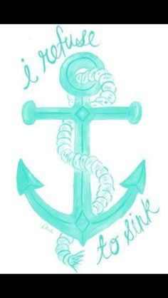 A PCOS tattoo to symbolize that this disease will not get me down Pcos, I Refuse To Sink, Anchor Tattoos, Anchor Tattoo Quotes, Anchor Quotes, Anchor Tattoo Meaning, Cool Tats, Feelings, Sayings