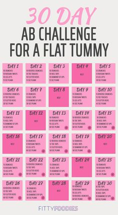 Whether you want to strengthen your core, lose a little belly fat or just want to challenge yourself, a 30 day ab challenge is always a good idea!