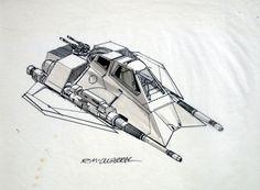 Star Wars - One-Man Snow Speeder concept art by Ralph McQuarrie