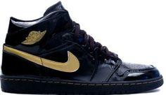 620a9f5c65ca7e Cheap New 136085-070 Air Jordan 1 Retro Black Metallic Gold Shoe Cheap  Jordan Shoes