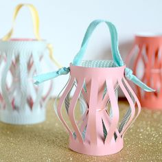 hourglass lanterns - takin' paper lanterns up a notch . . .