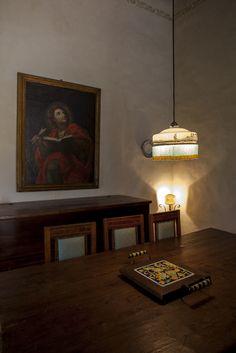 Dining room. Depandance, Casa Telesforo, 8 people #historicresidence #villacentofinestre #destinazionemarche   www.villacentofinestre.com