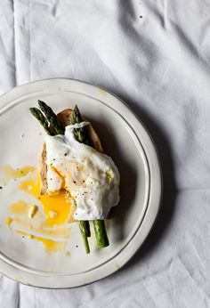 Spelt Sourdough Bread with Asparagus and Poached Egg