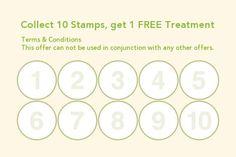 Salon Loyalty Business Card Stamp Card Pinterest Business Cards - Loyalty stamp card template