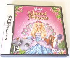 Nintendo DS Dsi Dsl CIB Complete Game BARBIE THE ISLAND PRINCESS Many Mini Games