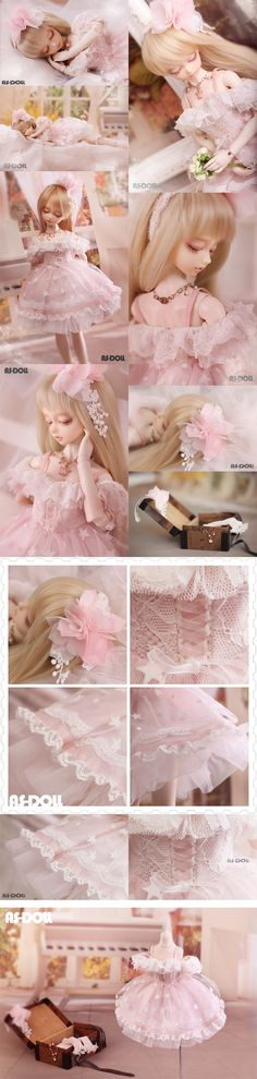 Bjd Clothes Girls 1/4 bjd boat neck bubble skirt /Peach CL4140723 for MSD Ball-jointed Doll_MSD_MSD_CLOTHING_Ball Jointed Dolls (BJD) company-Legenddoll