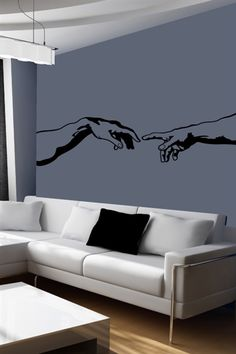 I just discovered some really cool wall art It& do-it-yourself wall decals for kids and adults. History of Love-Wall Decals Wall Murals Bedroom, Mural Wall Art, Painted Wall Murals, Love Wall Art, Wall Painting Decor, Wall Painting For Bedroom, Simple Wall Paintings, Bedroom Paintings, Aesthetic Room Decor