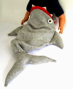 shark baby sleeping bag  - for the little camper in your life.