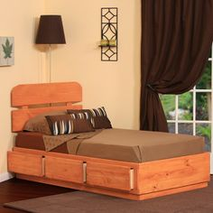 Extra Long Twin Captains Bed With 3 Drawers In Pine