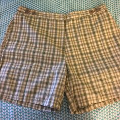 Size 16 Plaid Shorts Excellent condition!!!!  Size 16.  Green/taupe plaid shorts.   Important:  I make sure all items are freshly laundered as applicable (shoes and tagged items, I don't remove the tags and wash).  However, not all my items come from pet/smoke free homes.  Low pricing reflective of this. Thank you for looking! Shorts