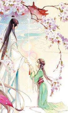 Ancient couple - Manga drawing