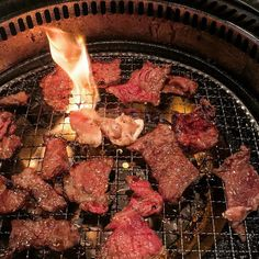 #yakiniku #japanese #charcoal #bbq at #gyubee in #markham #toronto  _________ AYCE Japanese Yakiniku BBQ | Assorted variety of meats and vegetables flame-grilled table side Yakiniku-style over charcoal _________ This is my new favourite BBQ restaurant because of the strong flavours and aroma from the charcoal- beats Korean style BBQ hands down. You have to be really quick and mindful of your meat though since the flames can become huge. The heat is not as even as your normal electric or…