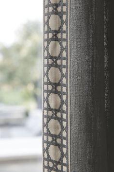 Fret Ribbon Banding/ Gray 16109 #Smithandnoble #Curtains #Decoration