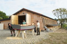 Thee Skol ar Mor project | Wooden Boat Building School.  Brittany