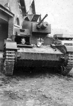 7TP Polish light tank captured in France by the American army