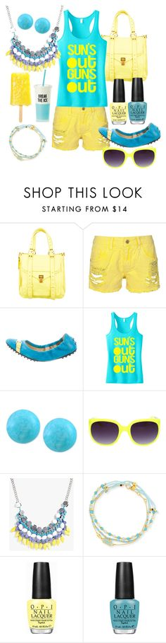 """Suns Out Guns OUT "" by lulala002 ❤ liked on Polyvore featuring Proenza Schouler, Tod's, Effy Jewelry, Boohoo, Astley Clarke, OPI and Kate Spade"