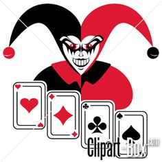 CLIPART JOKER AND CARDS