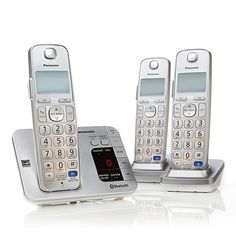 Panasonic DECT 6.0 PLUS 3pk Link2Cell Cordless Phones; I LOVE the Link2Cell, we can use our cell phones on these handsets.  When I call my daughter in Alaska on my cell, I can use the handset which is much more comfortable to use. And you can use this set with only your cell service if you no longer have a landline, you can answer cell phone calls from all over your home, even if the cell phone is still in your purse.  It will also give a text notification if you choose!