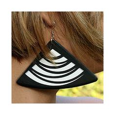 Recycled LP Vinyl Record 'Samba Swing' Dangle Earrings (Brazil)