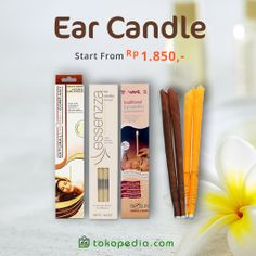 Kotoran telinga tak lagi jadi masalah, kalau kamu memakai Ear Candle! Dapatkan Ear Candle mulai dari Rp 1.850,- (harga bervariasi) di http://www.tokopedia.com/p/kesehatan/telinga/ear-candle