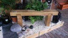 Wooden sleeper bench