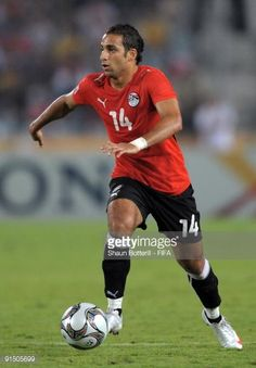 Hosam Hassan of Egypt in action during the FIFA U20 World Cup Round of 16 match between Egypt and Costa Rica at the Cairo International Stadium on...
