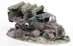 Diorama Opel Blitz Destrozado - Escala 1/35