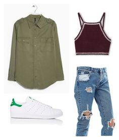 """Camisa militar ¿porque no?"" by laia-moreno on Polyvore featuring ASOS and adidas"