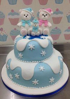 Polar Bear Family Cake