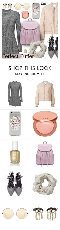 """""""Yoins - Perfect Puffer Jackets"""" by dora04 ❤ liked on Polyvore featuring See by Chloé, tarte, Essie, Pure Collection, Victoria Beckham, Sydney Evan, yoins, yoinscollection, loveyoins and puffers"""