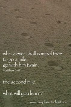 the second mile