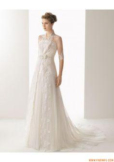 elegante mangas rendas apliques de tule vestido de noiva uma linha com casaco