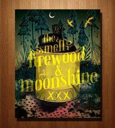 Firewood and Moonshine Print