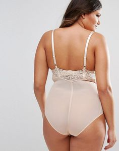 ASOS CURVE SHAPEWEAR New Improved Fit Wear Your Own Bra Lace Bodysuit