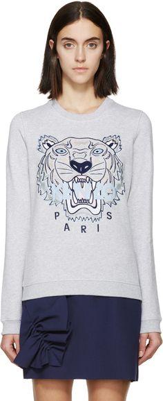 6bee78cb6146 Kenzo for Women SS18 Collection. Grey SweatshirtCrew Neck SweatshirtTiger  ...