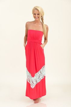 Best of My Love Maxi-Hot Pink/Mint