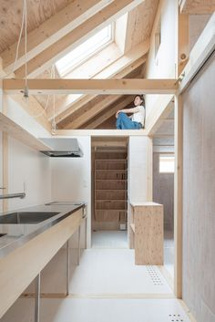 House in Shinkawa. House in Shinkawa is a minimalist residence located in Hokkaido Japan designed by Yoshichika Takagi Associates. Architecture Design, Japanese Architecture, Contemporary Architecture, Japanese Interior, Wood Interiors, Japanese House, Small Spaces, New Homes, House Design