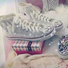 Because who doesn't need sparkly Converse in their life!