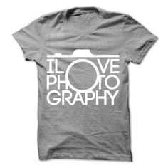 I Love Photography T Shirts, Hoodies. Check price ==► https://www.sunfrog.com/LifeStyle/I-Love-Photography-29461526-Guys.html?41382 $23