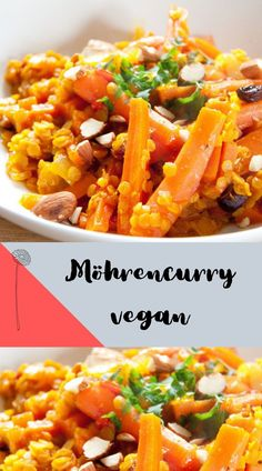 Curry Rezept vegetarisch mit Möhren und Rosinen - so lecker und aromatisch und ganz schnell gemacht. Ein gesundes Familienessen für die ganze Familie. Clean Recipes, Healthy Recipes, Healthy Food, Diet Meal Plans To Lose Weight, Nutrition Program, Group Meals, Healthy Weight Loss, Meal Prep, Meal Planning