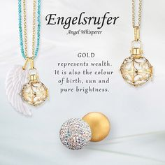Brighten up your Autumn.  #Gold #Engelsrufer #Wing #Crystal #Wealth #Birth #Sun #Brightness #Angel #Whisperer - Shop now for engelsrufer_uk_ireland > http://ift.tt/1Ja6lvu