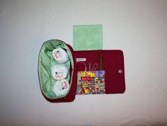 Utensilos & Stoffkörbchen - Wolltasche Handarbeitstasche Strickprojekttasche - ein Designerstück von Kaepseles bei DaWanda