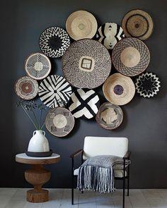 Basket wall by stylist @marianneluning on Instagram