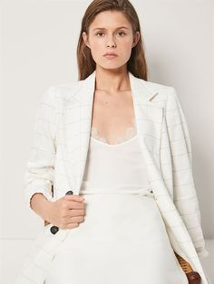 TOP PUNTILLA TIRANTE DOBLE - Mujer - Massimo Dutti España Blazer, Blouse, Long Sleeve, Sleeves, Jackets, Tops, Women, Fashion, Spring Summer 2018