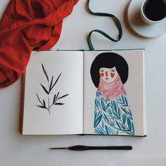 Boa tarde gente !  santiagowillian #sketch #watercolor #illustration #vscocam