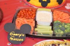 Mickey Mouse Birthday Party - healthy snack for little finger that like to feed themselves