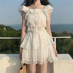 Korean Fashion – How to Dress up Korean Style – Designer Fashion Tips Cute Fashion, Asian Fashion, Look Fashion, Girl Fashion, Fashion Dresses, Kawaii Fashion, 80s Fashion, Modest Fashion, Maxi Dresses