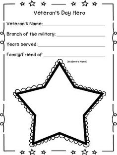 Veteran's Day Star Bulletin Board Display by Thompson's Teaching Tips and Tidbits Star Bulletin Boards, Bulletin Board Display, Veterans Day Activities, Autumn Activities, Veterans Day Celebration, School Displays, Leader In Me, Remembrance Day, School Programs