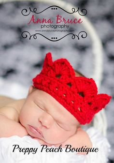 Crochet Baby Crowns, Baby Girl Hat, Baby Boy Hat, Prince, Princess, Photography Prop, Photographer Prop