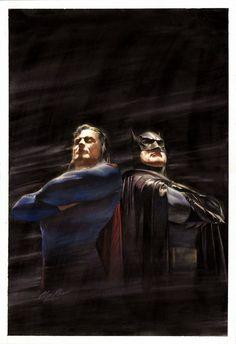 Superman and Batman by Alex Ross.
